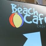 Beach cafe sign